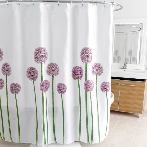 Allium Polyester Shower Curtain by East Urban Home