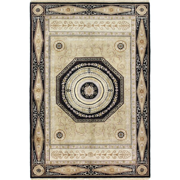 One-of-a-Kind Stubbeman Hand-Woven Wool Gold/Black Area Rug by Astoria Grand