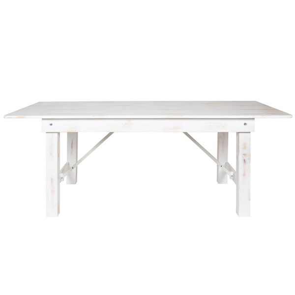 Ophélie Extendable Pine Solid Wood Dining Table by Gracie Oaks
