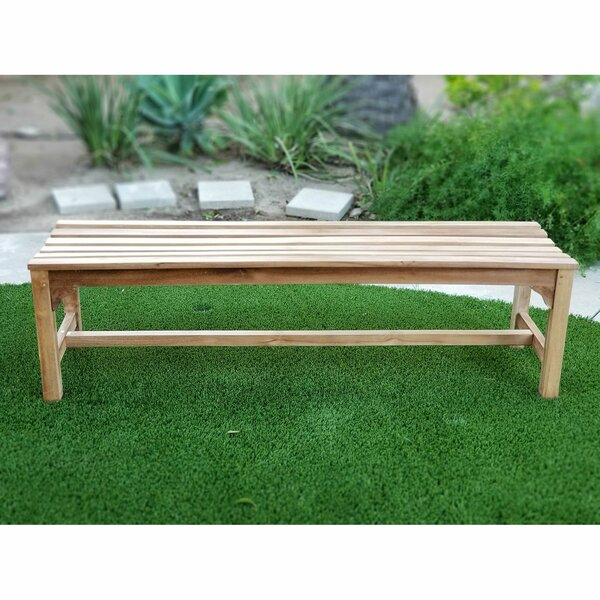 Landyn Teak Picnic Bench by Highland Dunes