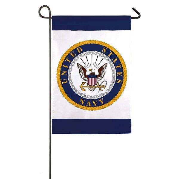 NAVY Garden Flag by Evergreen Flag & Garden