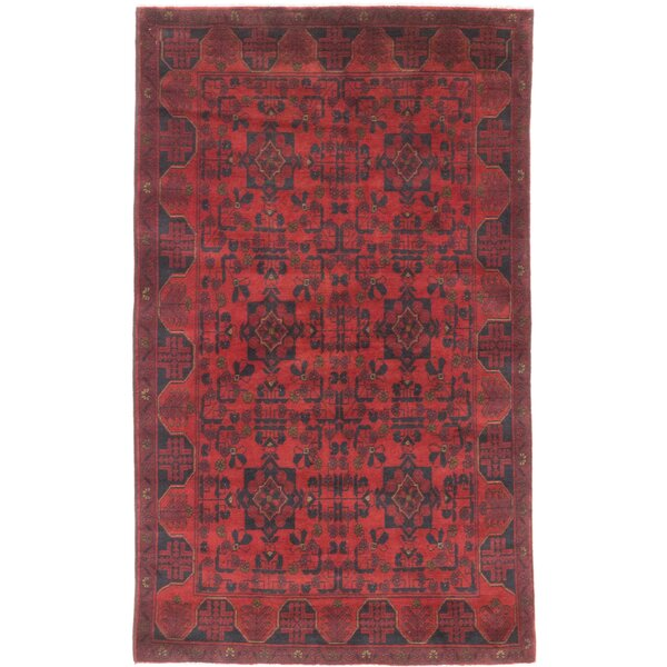 One-of-a-Kind Rosales Hand-Knotted Red Area Rug by Bloomsbury Market