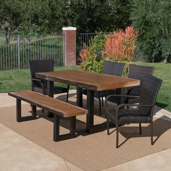 Woodell Outdoor 6 Piece Dining Set by Gracie Oaks