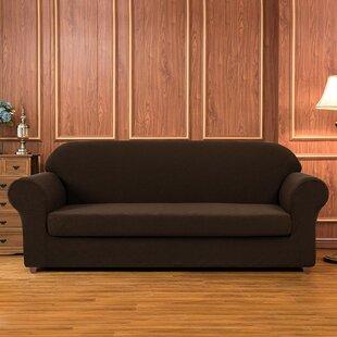 Geometric Printed Stretch Box Cushion Sofa Slipcover