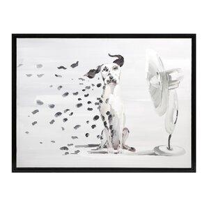 Pongo Spots Framed Oil Painting Print by Brayden Studio