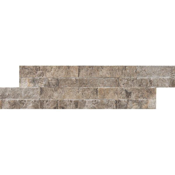 M-series Ledger Travertine Mosaic Tile in Gray by MSI
