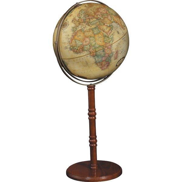 Commander II 16 Antique Floor/Desktop Globe by Rep