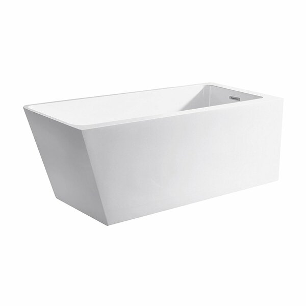 Vigo 67 x 31 Freestanding Soaking Bathtub by Maykke