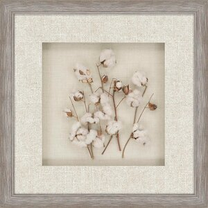 Cotton Field Framed Painting Print by Paragon