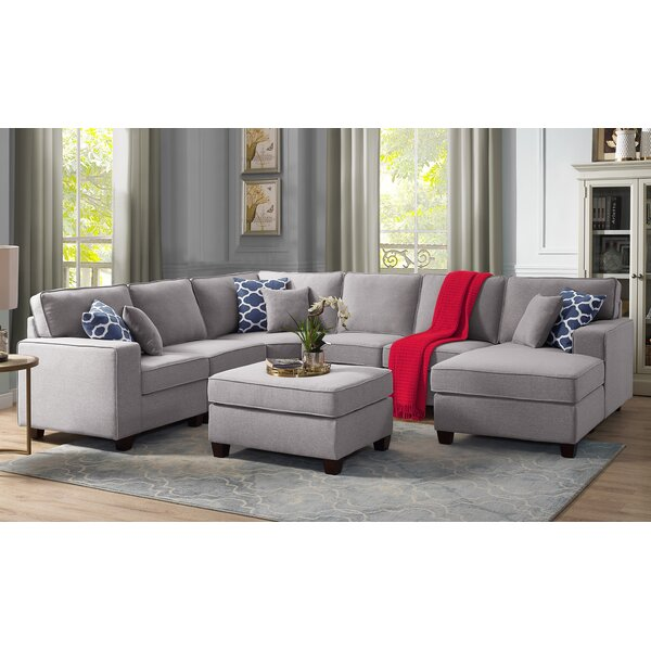 Nibbi Aries Modular Sectional with Ottoman by Winston Porter