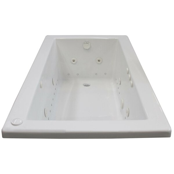 Guadalupe 59.5 x 31.63 Rectangular Air & Whirlpool Jetted Bathtub with Drain by Spa Escapes
