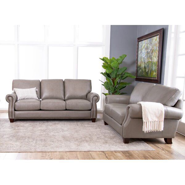 Whipton Leather Configurable Living Room Set by Three Posts
