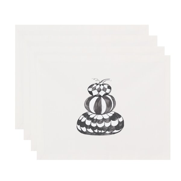 Maser Pumpkin Stack Halloween 18 Placemat (Set of 4) by The Holiday Aisle