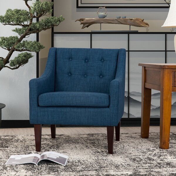 Jessica Mid Century Tailored Tufted Accent Armchair by George Oliver