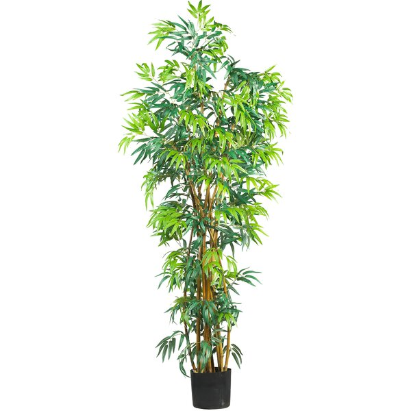 Curved Bamboo Tree in Pot by Nearly Natural