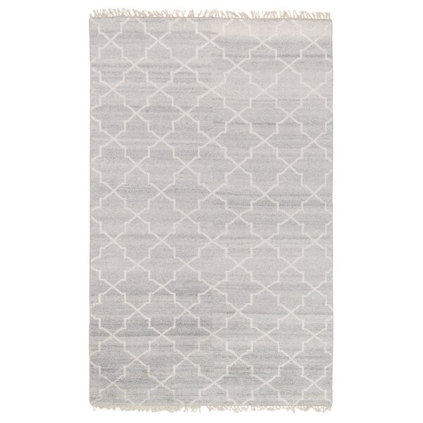 Lakeview Hand-Knotted Silver Area Rug by Ophelia & Co.