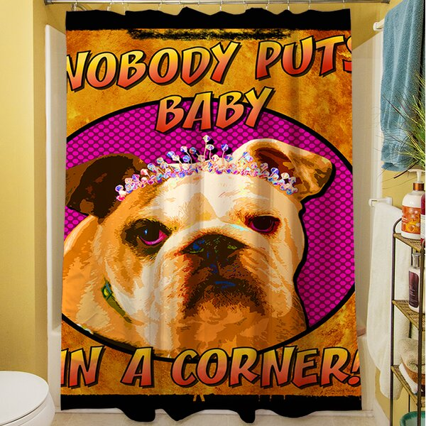 Sassys Dog Baby Shower Curtain by Manual Woodworkers & Weavers