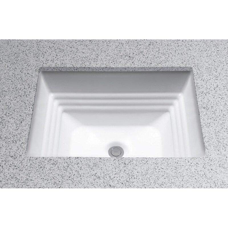 Toto Promenade Vitreous China Rectangular Undermount Bathroom Sink ...