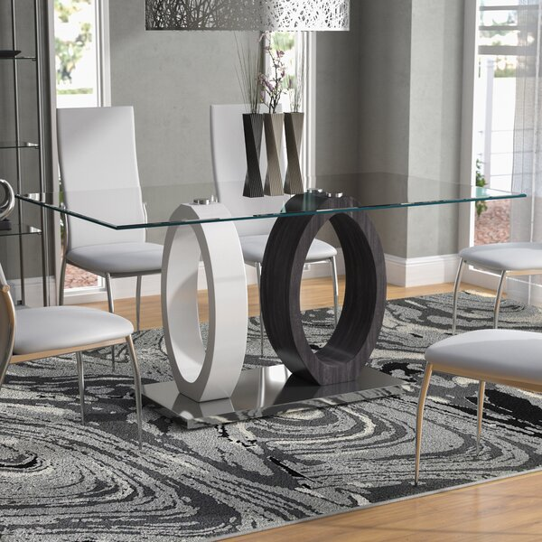 Poirier Oval Base Dining Table by Brayden Studio