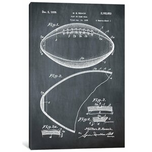 'M.B. Reach Football' Graphic Art Print on Canvas by East Urban Home