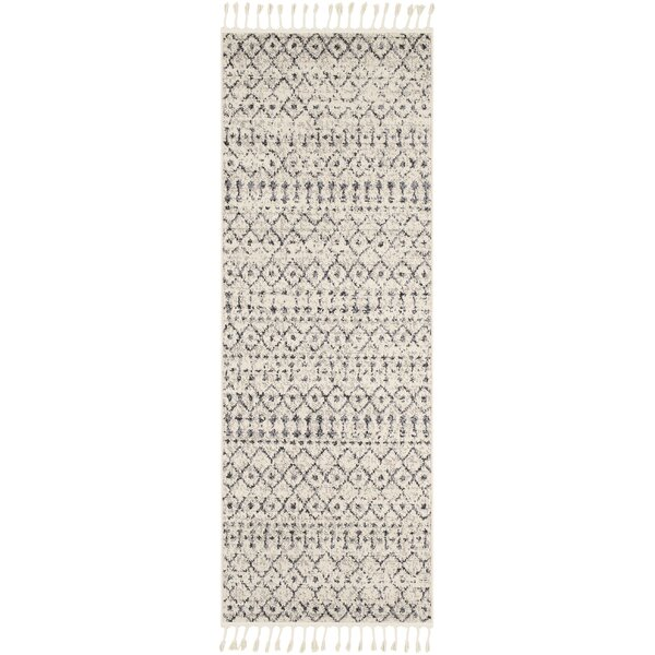 Kress Distressed Charcoal/Cream Area Rug by Union Rustic