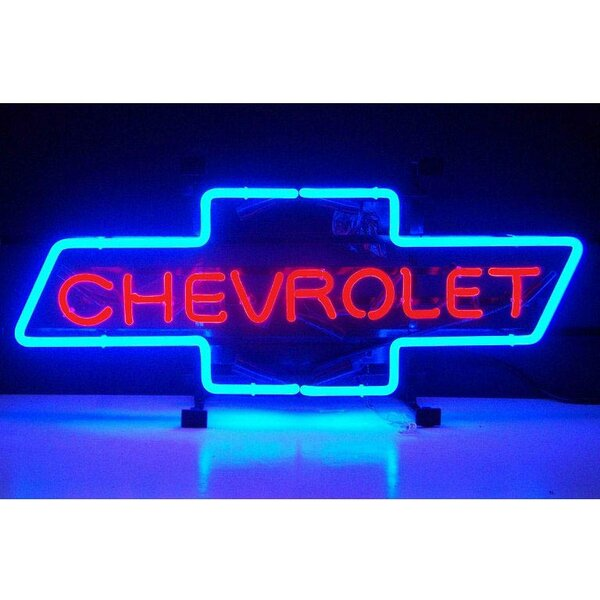 Cars and Motorcycles Chevrolet Bowtie Neon Sign by Neonetics