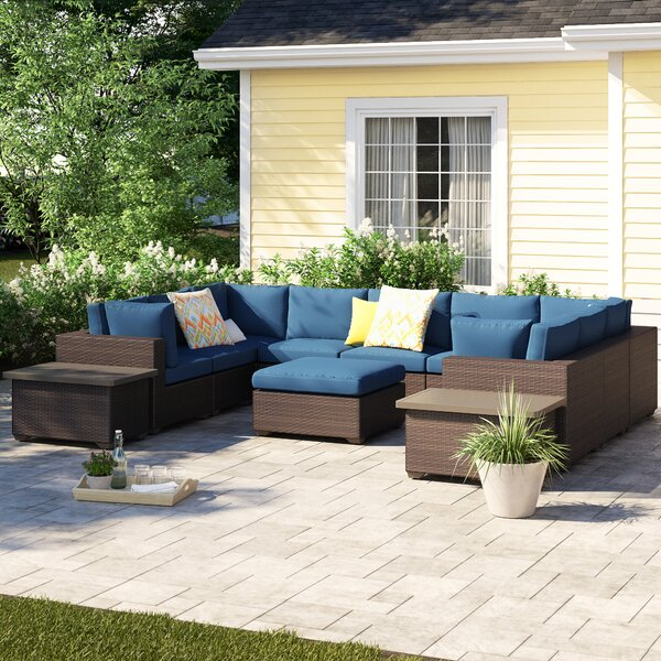 Fernando 12 Piece Sectional Seating Group with Cushions by Sol 72 Outdoor