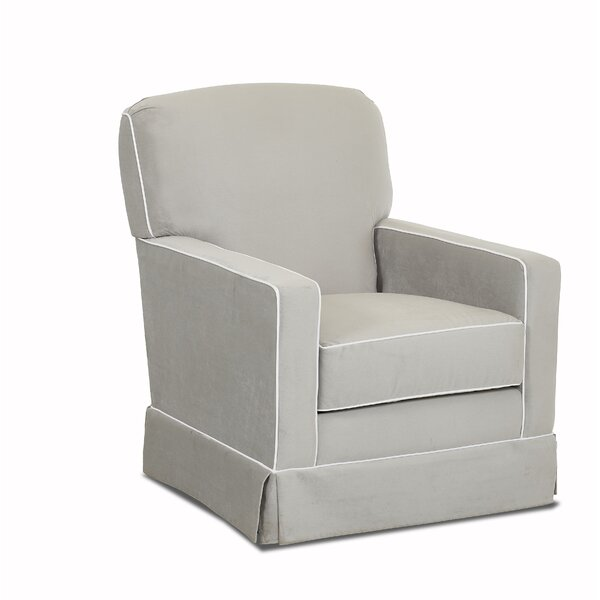 Susannah Swivel Glider with Contrasting Welt by Wayfair Custom Upholstery™
