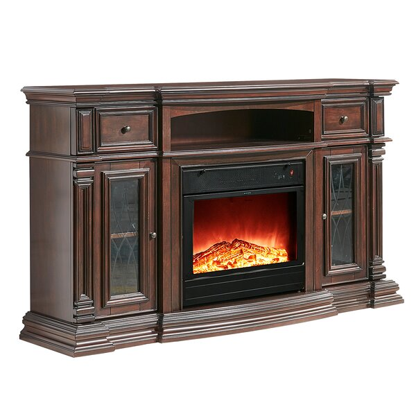 Raya 60 TV Stand with Electric Fireplace by Alcott Hill