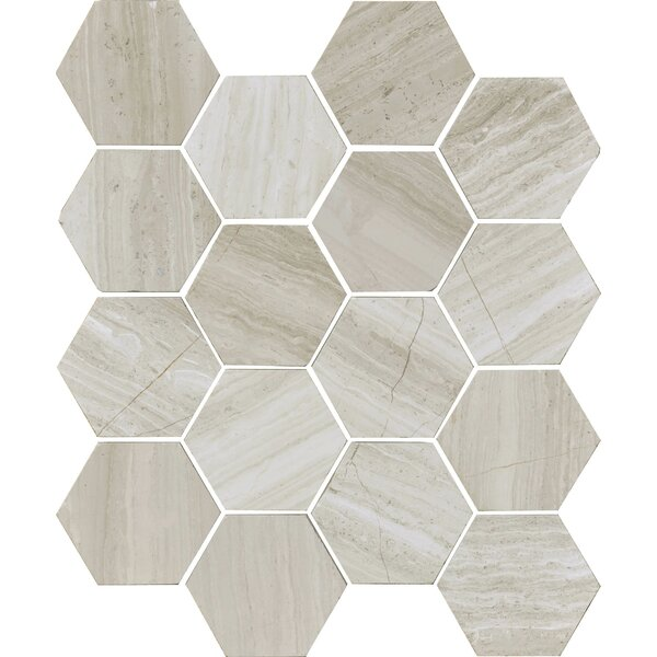 Cerro Hudson 3 x 3 Marble Field Tile in Gray by The Bella Collection