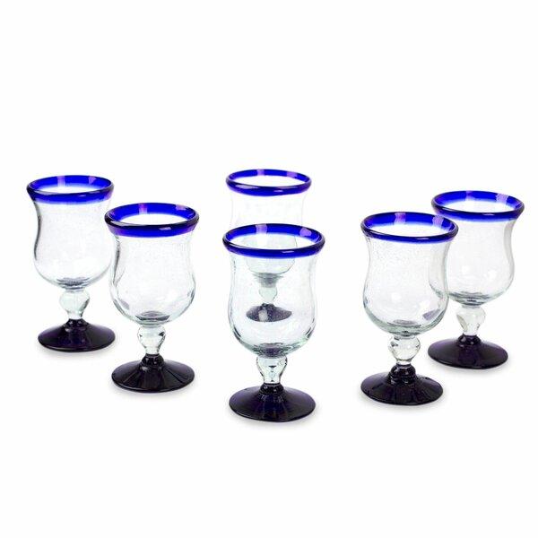 Spring 7 oz. Snifter Glass (Set of 6) by Novica