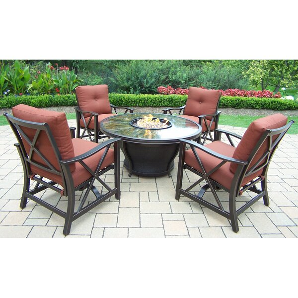 Valery 5 Piece Conversation Set with Cushions by Charlton Home