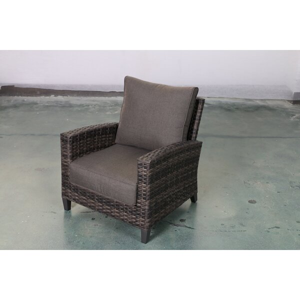 Rebeca Club Patio Chair with Cushions by Bayou Breeze