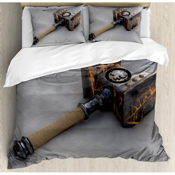 Video Game Weapon of a Shaman Battle Duvet Set by Ambesonne