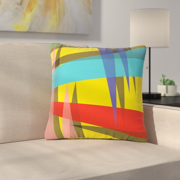 Bruce Stanfield Ambient 19 Bluce Outdoor Throw Pillow by East Urban Home
