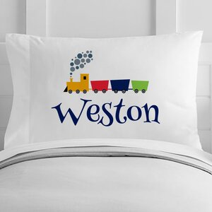Personalized Choo Choo Train Toddler Pillow Case