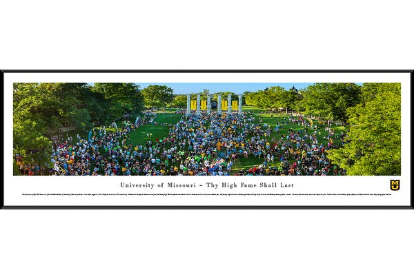 NCAA Missouri, University of - Tiger Walk Framed Photographic Print by Blakeway Worldwide Panoramas, Inc