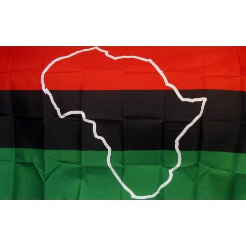African Map Novelty Traditional Flag by NeoPlex