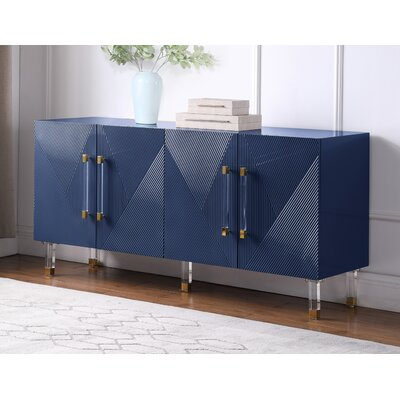 """Everly Quinn Wanneroo 65"""" Wide Sideboard  Color: Navy"""