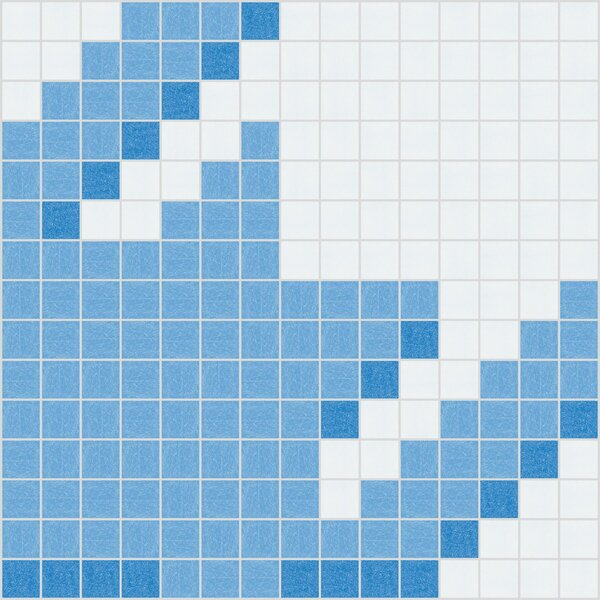 Urban Essentials Houndstooth 3/4 x 3/4 Glass Glossy Mosaic in Lakefront Blue by Mosaic Loft