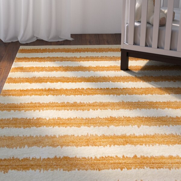 Travis Orange/Beige Area Rug by Viv + Rae