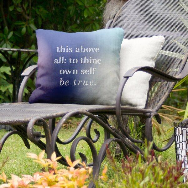 Shakespeare Inspirational Indoor/Outdoor Throw Pillow