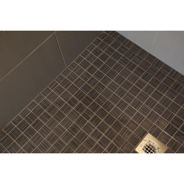 Fabrique 12 x 12 Porcelain Wood Look Tile in Noir Linen by Daltile