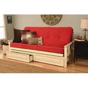 Leavittsburg Futon and Mattress with Storage Drawers by Red Barrel Studio