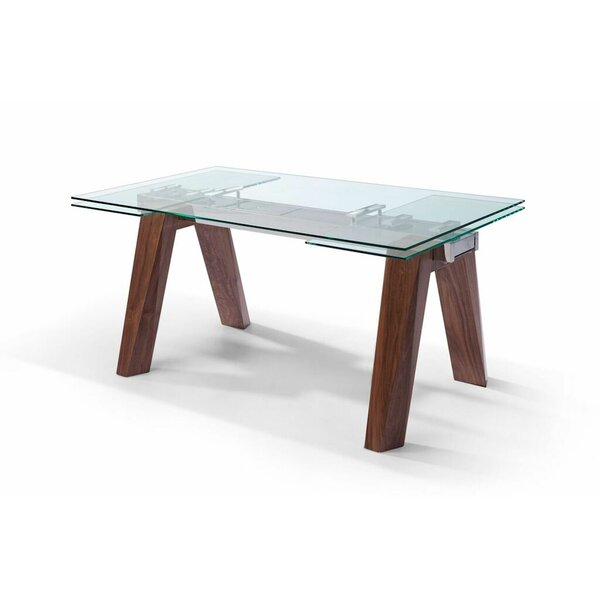 Valencia Extendable Dining Table by Whiteline Imports Whiteline Imports
