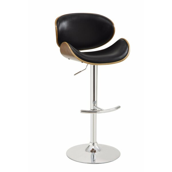 Dysart Adjustable Height Swivel Bar Stool by George Oliver
