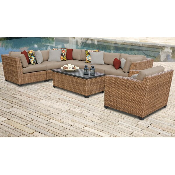 Medina 8 Piece Sectional Seating Group with Cushions by Rosecliff Heights