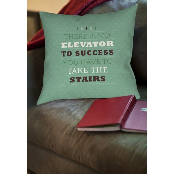 Take the Stairs Printed Throw Pillow by Manual Woodworkers & Weavers