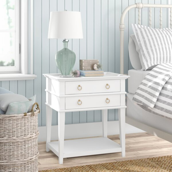 Neufeld 2 Drawer Nightstand By Beachcrest Home by Beachcrest Home Reviews
