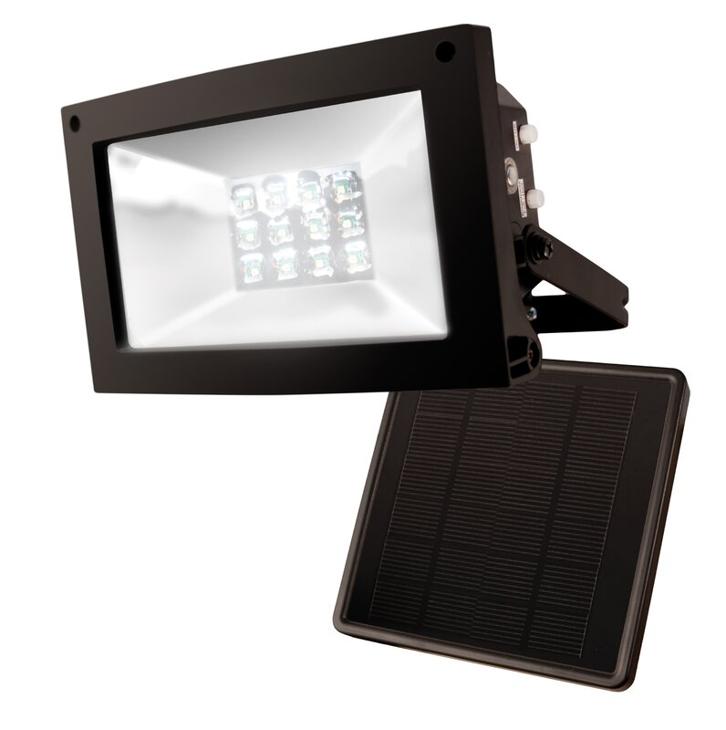 Maxsa Solar Dusk Until Dawn 12 Light Led Flood Light